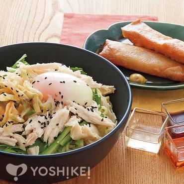 蒸し鶏とザーサイのあえ麺