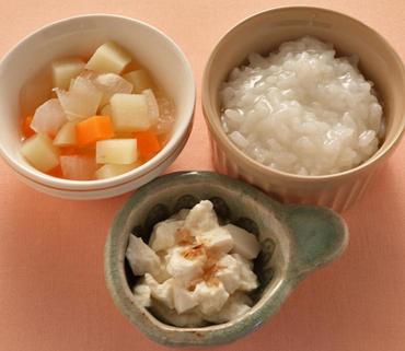 くずし豆腐・じゃが煮・おかゆ