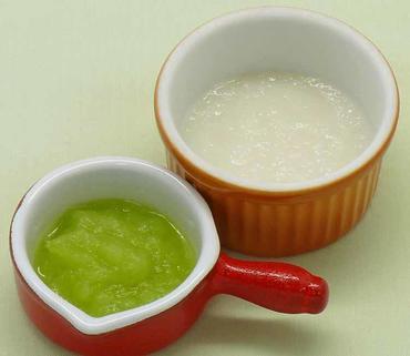 白菜と玉葱のすりのばし・おかゆ