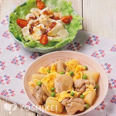 鶏肉とふわふわ卵の照り煮