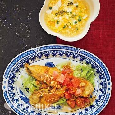 白身魚とトマトの油淋ソース