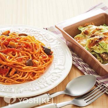 茄子のトマトソーススパゲティ