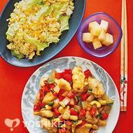 鶏肉とカシューナッツのかき油炒め