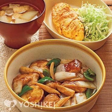 鶏肉とさつま芋の南蛮炒め