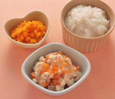 鶏肉と野菜のみそ煮・かぼちゃ煮・おかゆ
