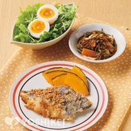 白身魚の塩レモンパン粉焼き