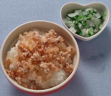 洋風豚丼・2色サラダ