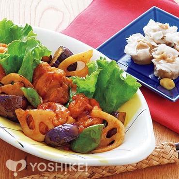 鶏唐と野菜の黒酢炒め