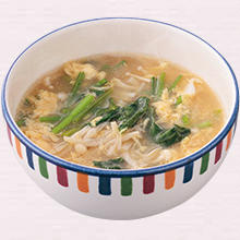 ほうれん草のかき玉スープ