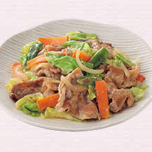 豚肉と野菜のみそ炒め
