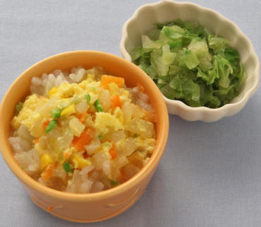 カラフル野菜のたまごとじ丼・レタスのやわらか煮