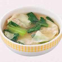 ワンタンとチンゲン菜のスープ