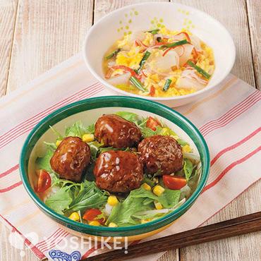 カラフル肉団子ご飯