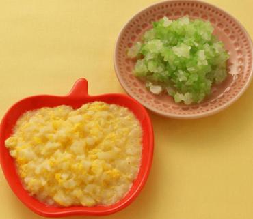 たまごうどん・胡瓜と玉葱のやわらか煮