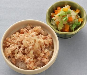 洋風豚丼・白菜と人参のやわらか煮