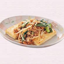 そぼろ野菜のせ豆腐ステーキ
