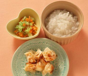 豆腐ステーキ・白菜と人参のやわらか煮・おかゆ