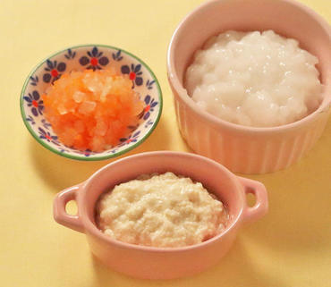 つぶし豆腐・大根と人参のやわらか煮・おかゆ