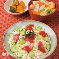 かつおのてこね寿司