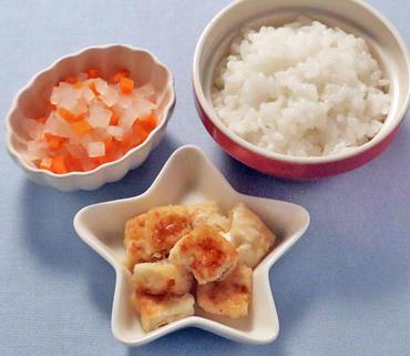豆腐ステーキ・大根と人参のやわらか煮・おかゆ