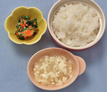 くずし豆腐と大根のとろみ煮・温野菜サラダ・おかゆ