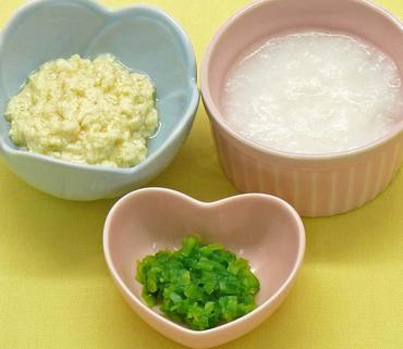 つぶし豆腐・白菜のやわらか煮・おかゆ