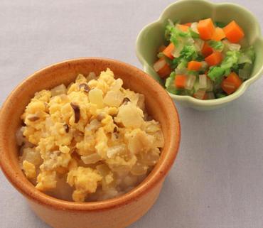 きのこの卵とじ丼・白菜と人参のやわらかあえ