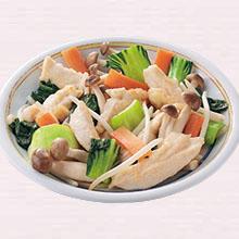 鶏肉とチンゲン菜のうま塩炒め