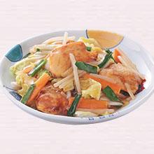 鶏肉と白菜のとろみ炒め