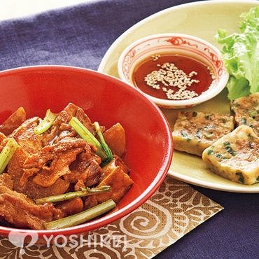 豚肉とかぶの韓国風煮