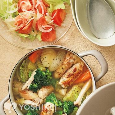 豚肉のチーズロールポトフ鍋