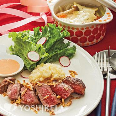 牛ステーキ~マッシュポテト添え~