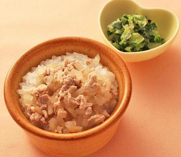 洋風豚丼・青菜とレタスのやわらか煮