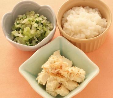 くずし豆腐・野菜のやわらか煮・おかゆ