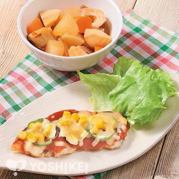白身魚のピザ焼き