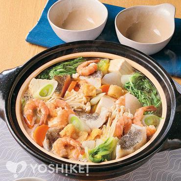 えび味噌風味の海鮮鍋