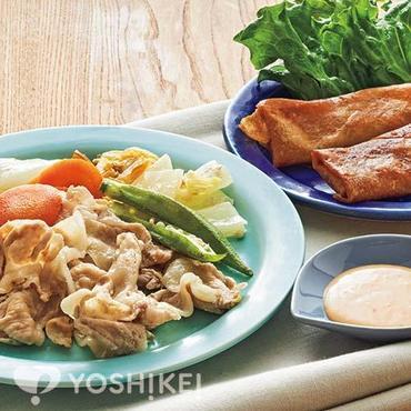 豚肉の彩り野菜蒸し