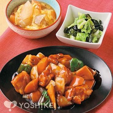黒酢ソースの酢豚