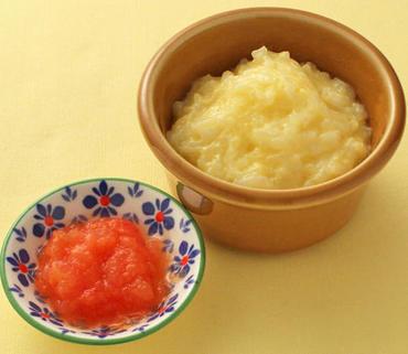 卵がゆ・トマトのレンジ蒸し
