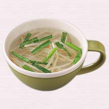 もやしとにらのスープ