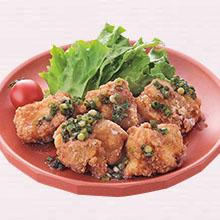 鶏のから揚げ葱じょうゆ