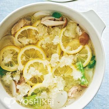 塩麹レモン鍋