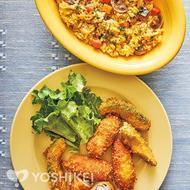 豚肉のクリームチーズロール&アボカドフライ