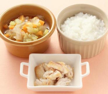 めかじきのソテー・野菜のやわらか煮・おかゆ