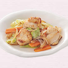鶏と野菜の塩炒め