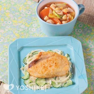 めかじきのムニエル~野菜のマヨソース~