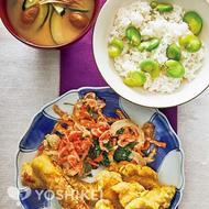 カレー風味のハイカラ天ぷらと桜えびのかき揚げ