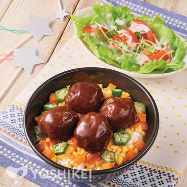 キラキラ★てりやき肉団子丼