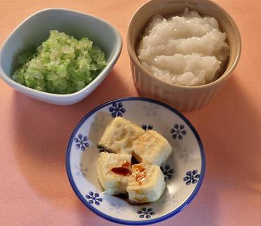 豆腐ステーキ・野菜の煮もの・おかゆ