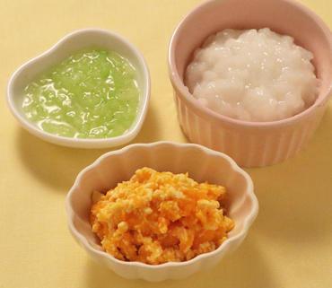 豆腐とかぼちゃのつぶしあえ・胡瓜のとろとろ・おかゆ